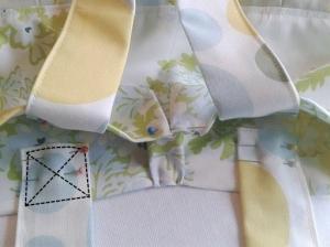 Stitching bag handle to handmade bag