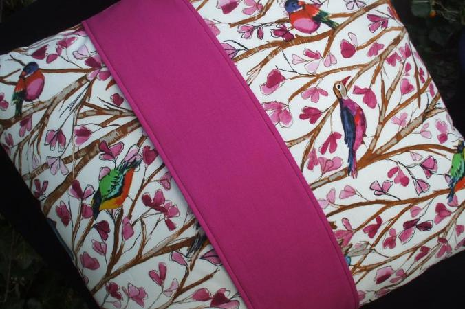 Cushion Handmade with Laura Gunn Wing Song Fabric
