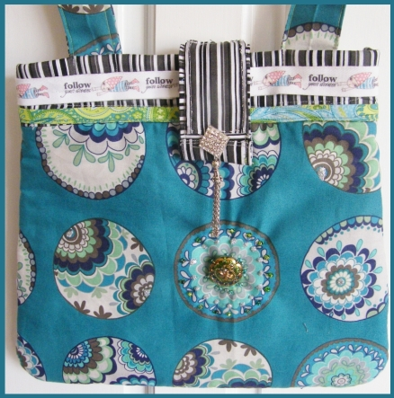 Fiona's Handmade Bag with embellishments