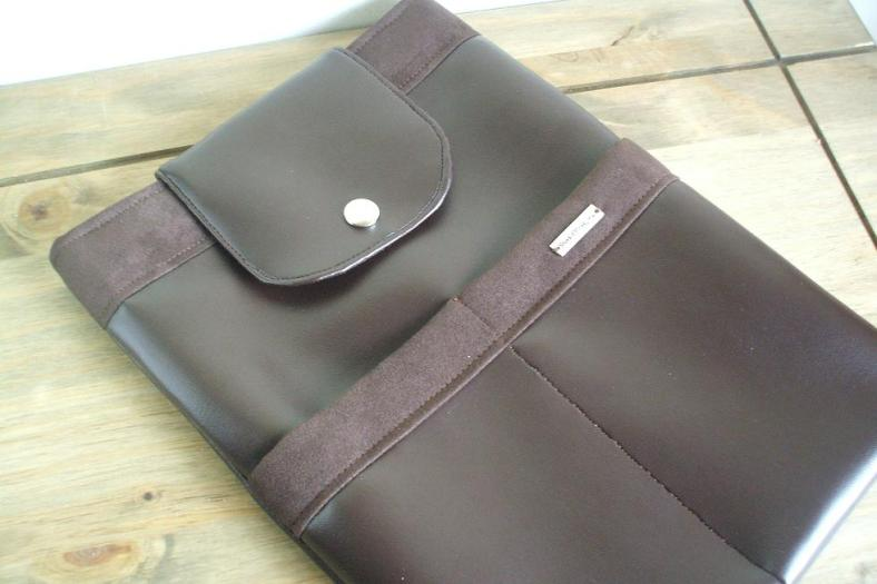 Handmade Faux Leather and Suede iPad Sleeve