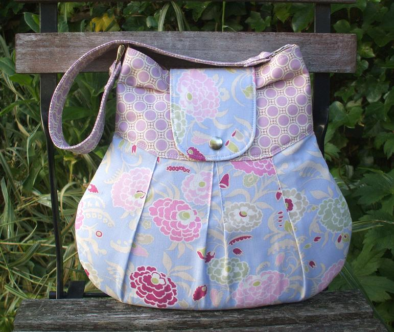 The Bonnie Hobo Bag Handmade in Amy Butler Gypsy Caravan fabrics
