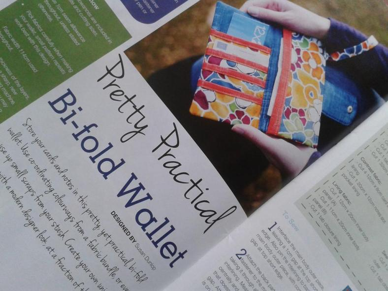 Sewing World Project Feature by SusieDDesigns Bi-fold Wallet (March 2013 Issue)