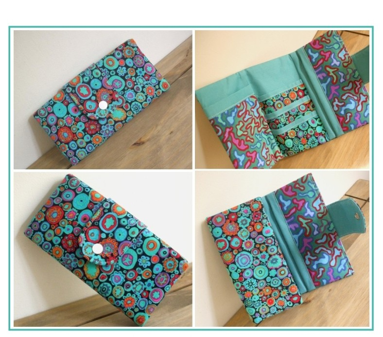 Tri-fold wallet sewing pattern by SusieDDesigns