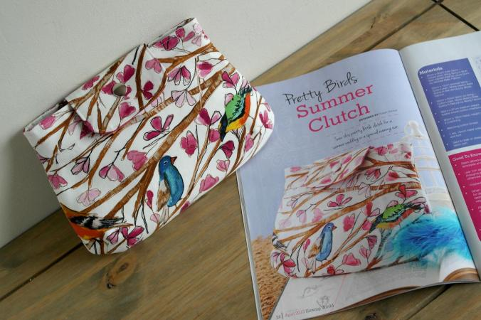 Summer clutch sewing pattern by Susan Dunlop