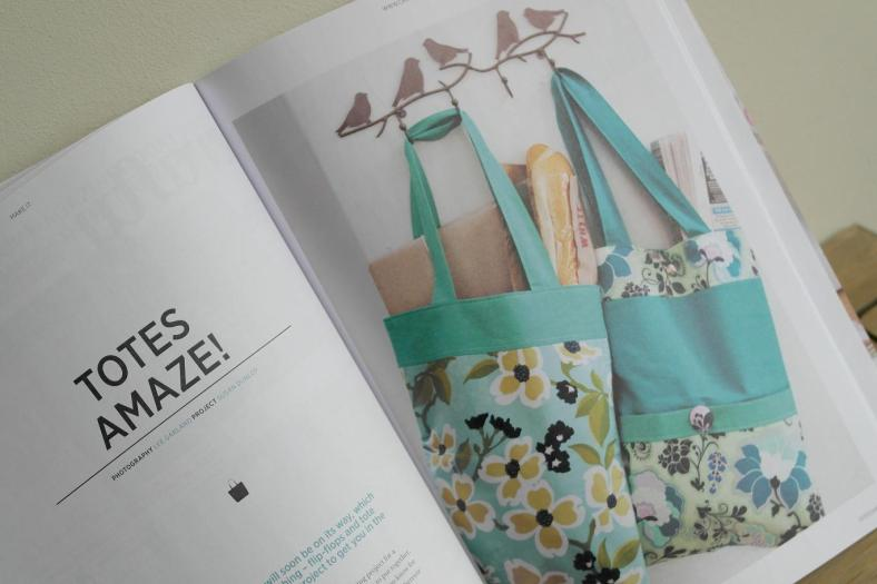 Tote Sewing Projects by Susan Dunlop for Crafty magazine.
