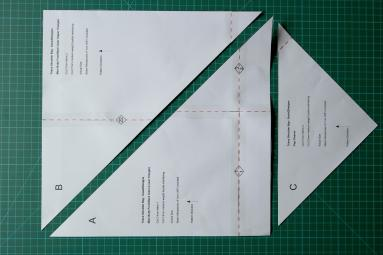 The full templates cut from the taped pages.