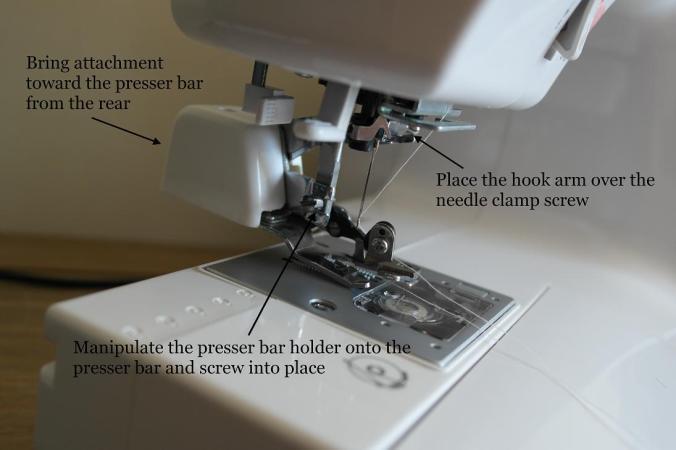 Attach the cut & hem foot