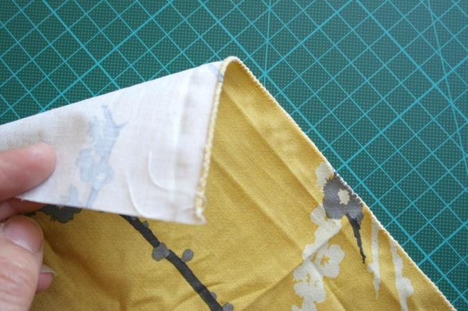 hem stitched with cut and hem presser foot