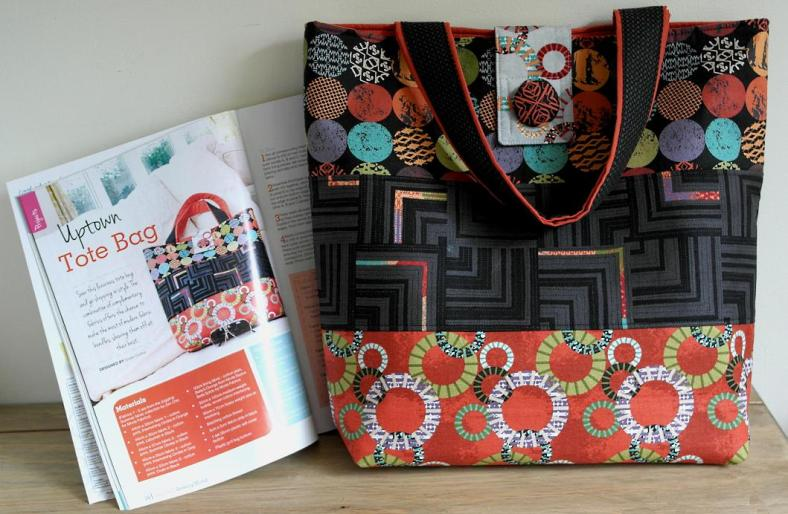 Uptown Tote Bag - sewing project by Susan Dunlop for Sewing World Magazine July 2013