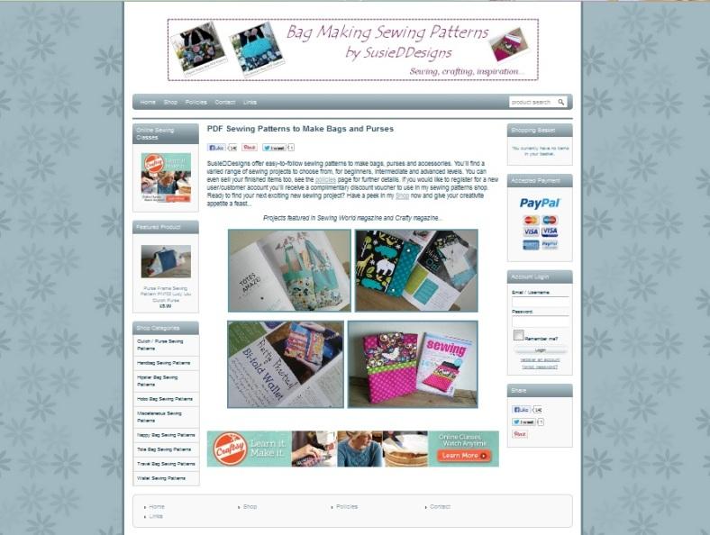 SusieDDesigns New Sewing Patterns Website