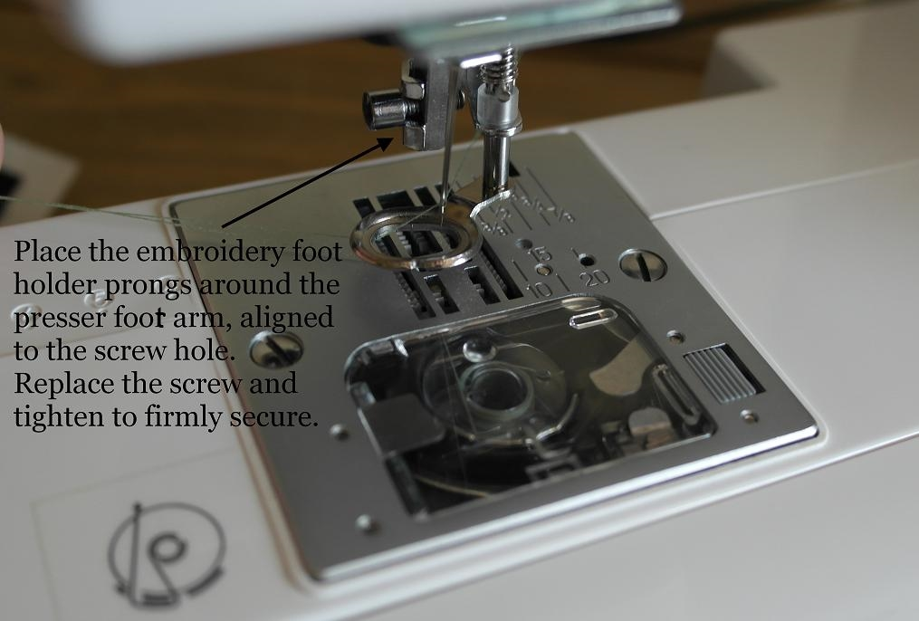 How To Attach And Use Sewing Machine Embroidery Presser Foot Mesmerizing Embroidery Attachment For Sewing Machine