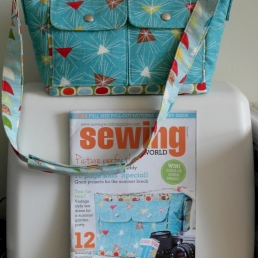 August '13 issue of Sewing World Magazine featuring Camera Bag project