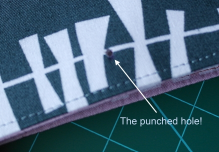 Fabric hole punch how to