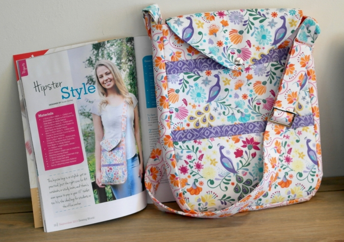 Hipster Bag project by Susan Dunlop in Sewing World Magazine