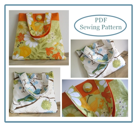 The Elegance Tote Bag Sewing Pattern