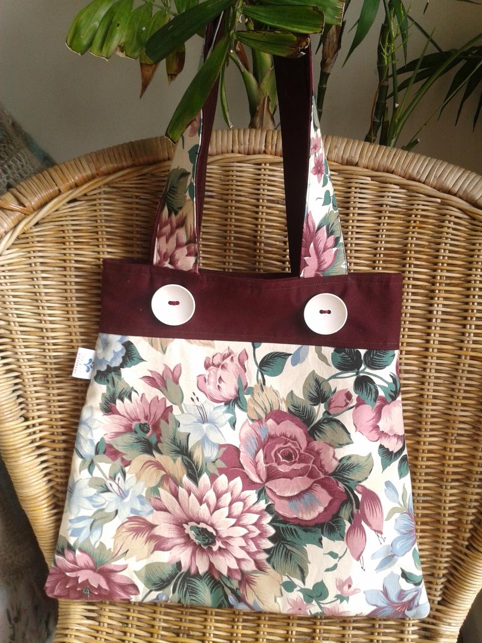 Customer Make – The Elegance Tote Bag Sewing Pattern ...