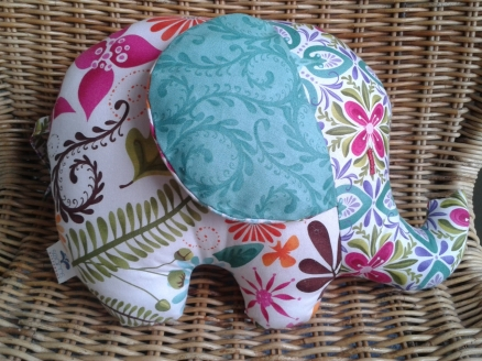 Cute Elephant Cushion Handmade by Theresa