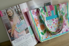 Busy Bees Childs Tote sewing project in Sewing World magazine