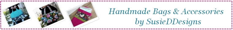 Etsy shop banner - handmade bags by Susie