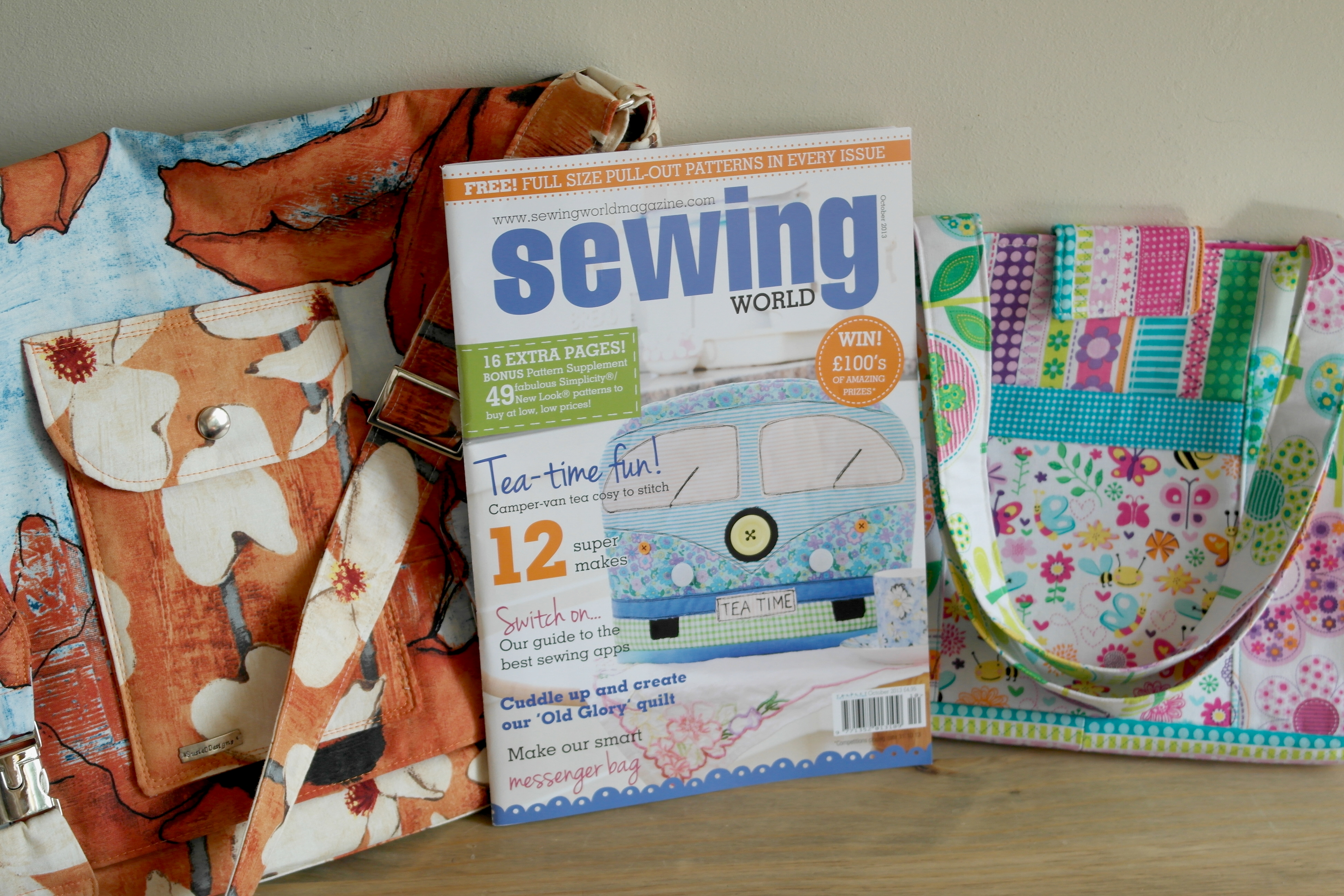 Whats in the october issue of sewing world magazine bag making projects in sewing world magazine jeuxipadfo Choice Image