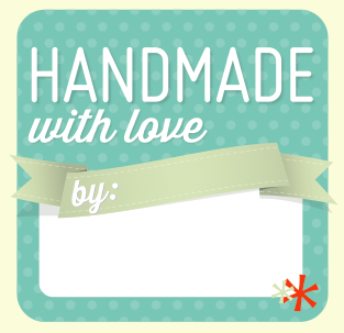 Download and print these free 'Handmade with Love' Christmas gift tags.