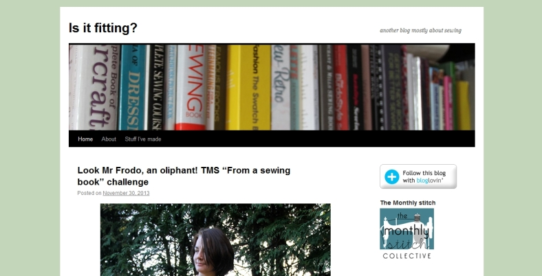 sewing blog by Rachel of Is it Fitting