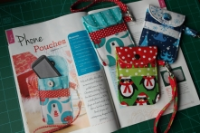 My phone pouches sewing pattern in Sewing World magazine - December 2013 issue