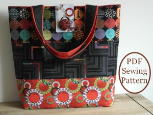 Uptown tote bag sewing pattern