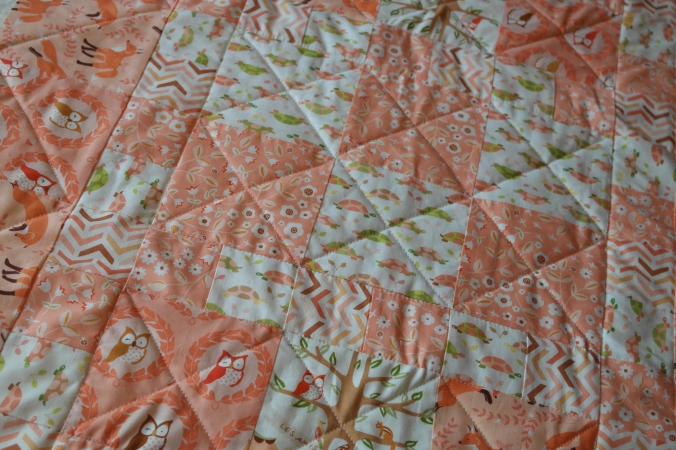Quilt sandwich quilted