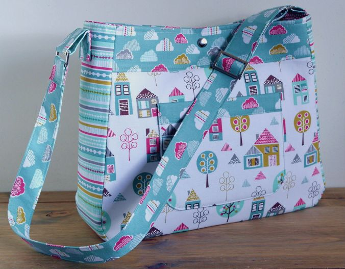 Nappy Bag in Petite Street by Susan Dunlop of SusieDDesigns