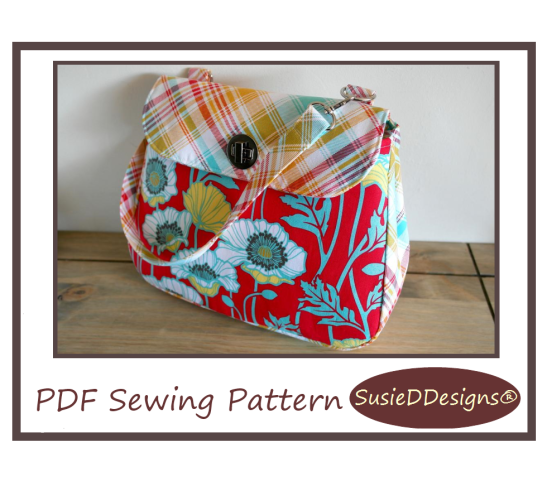 Notting Hill Handbag PDF Sewing Pattern by Susan Dunlop of SusieDDesigns