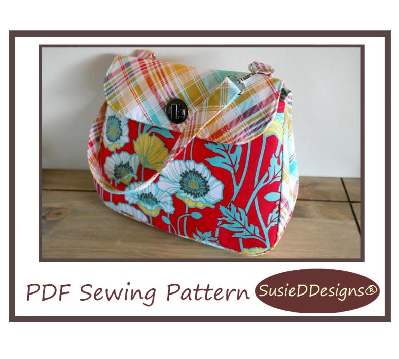 Notting Hill Handbag PDF Sewing Pattern by Susan Dunlop of SusieDDesigns