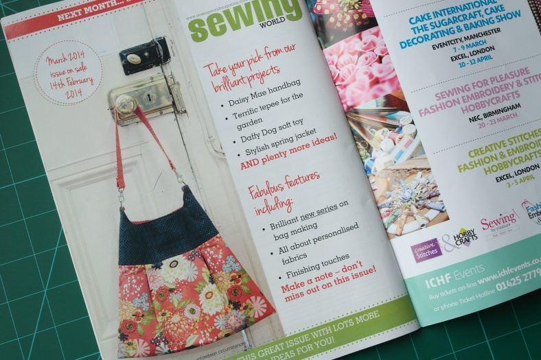 Look what's coming in the next issue of Sewing World magazine.