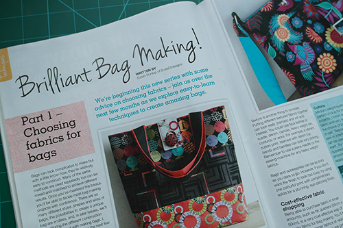 Brilliant Bag Making Techniques Series by Susan Dunlop for Sewing World Magazine
