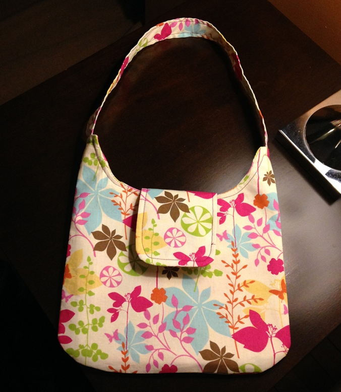 Sarah made the Emma Handbag from a SusieDDesigns sewing pattern