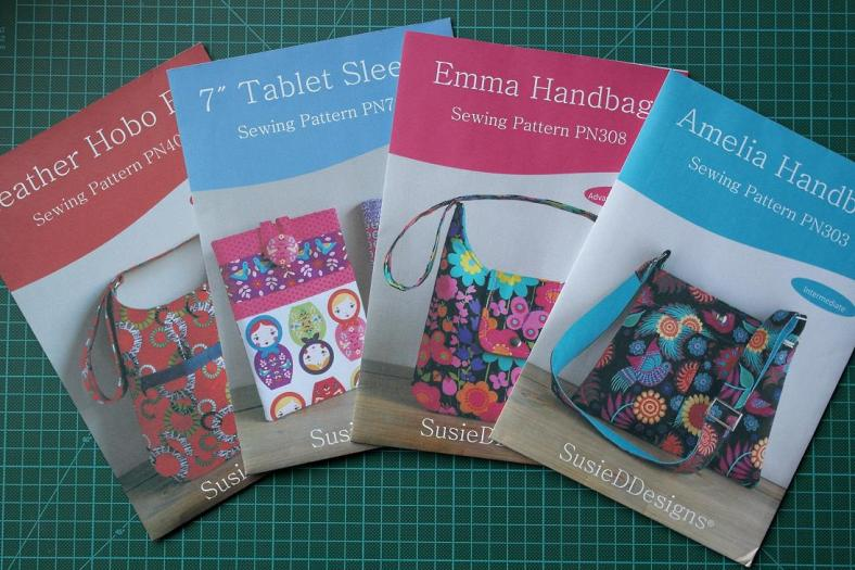 Printed Sewing Patterns by Susan Dunlop of SusieDDesigns