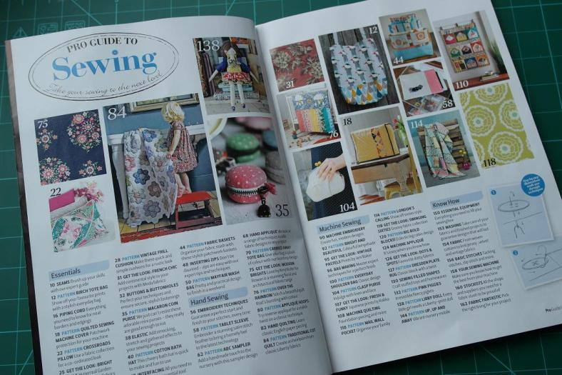 Pro Guide to Sewing Bookazine - Contents Page