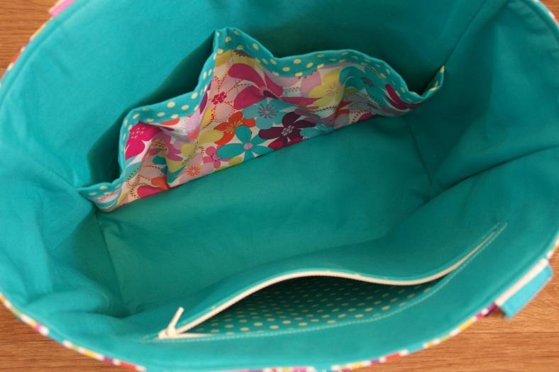 Handmade Abigail Nappy Bag Interior by SusieDDesigns