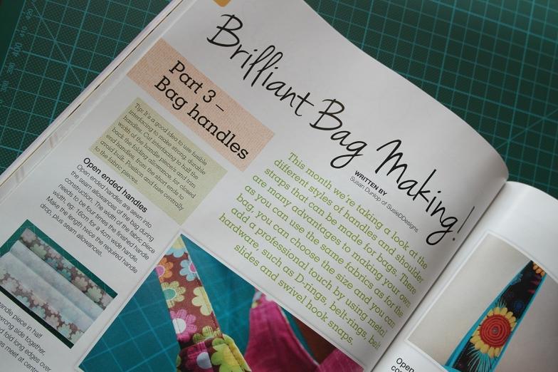 Bag Making Series Part 3 by Susan Dunlop in Sewing World Magazine