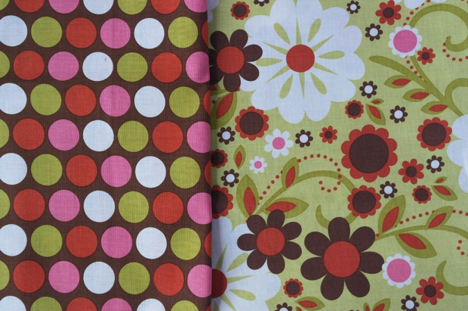 Large remnants (1/2 yard and some smaller pieces) of Indian Summer by Zoe Pearn for Riley Blake Designs