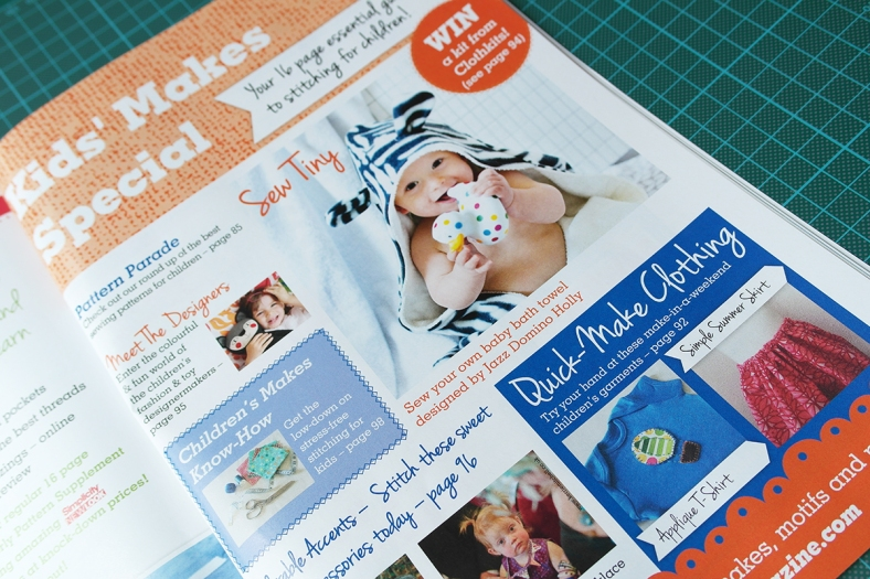 Kids Makes in Sewing World Magazine