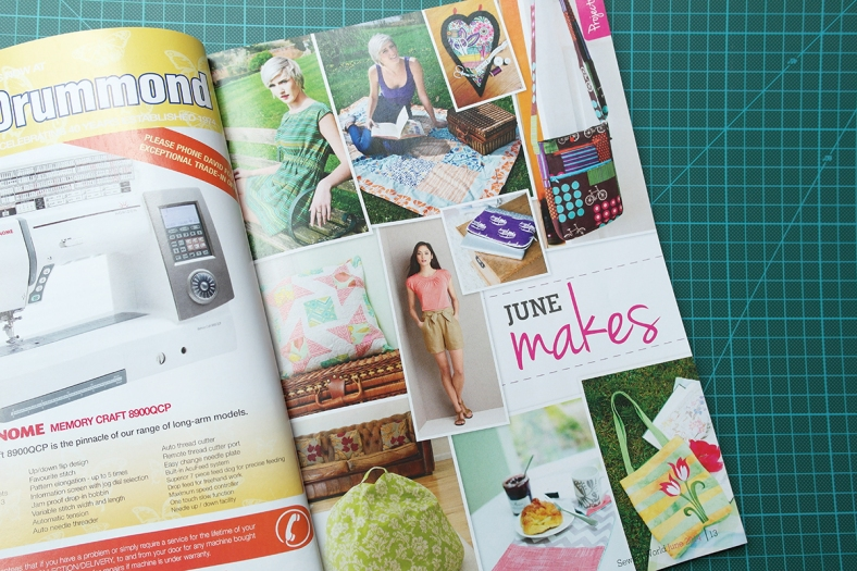 June projects in Sewing World magazine