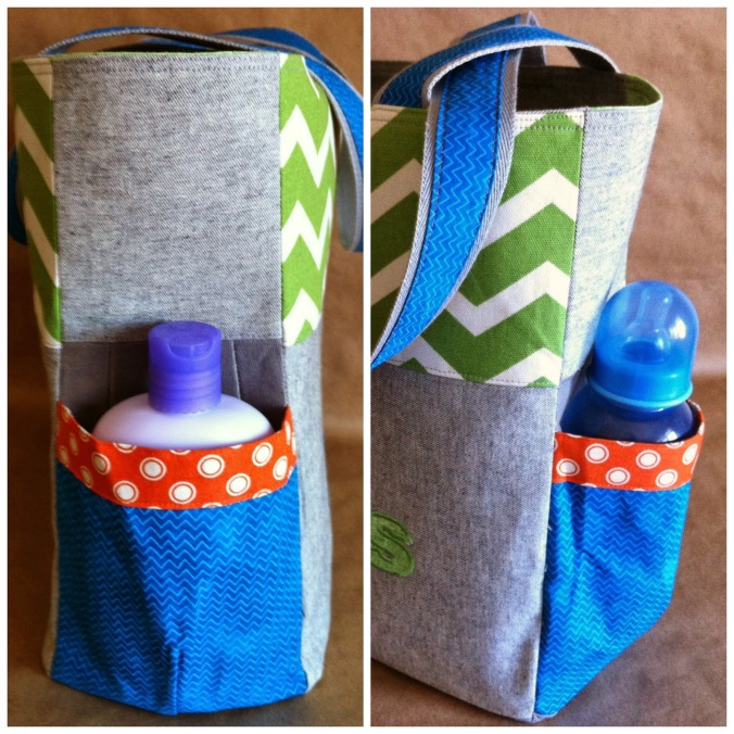 Millie Nappy bag handmade by Shannon Brunette from a SusieDDesigns sewing pattern.