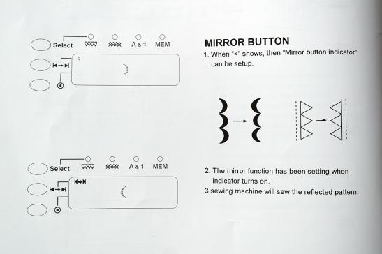 mirror button on QE404