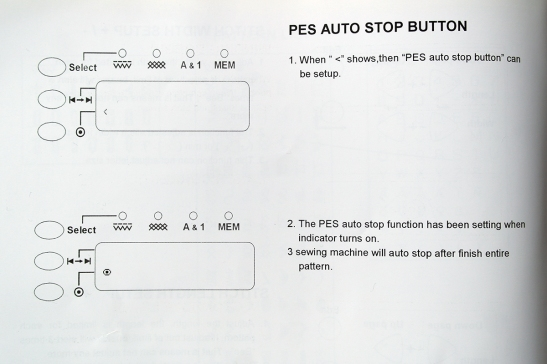 PES Auto button on QE404
