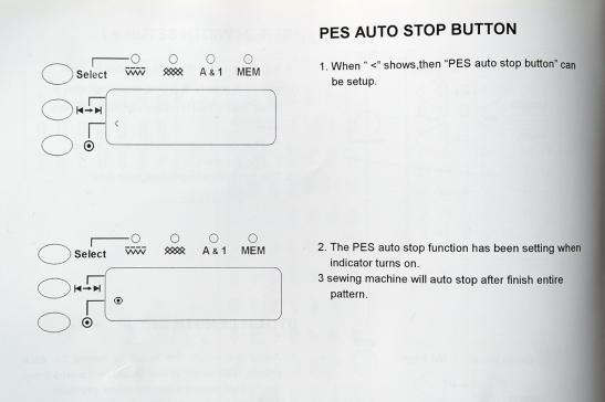 PES Auto button on QE404
