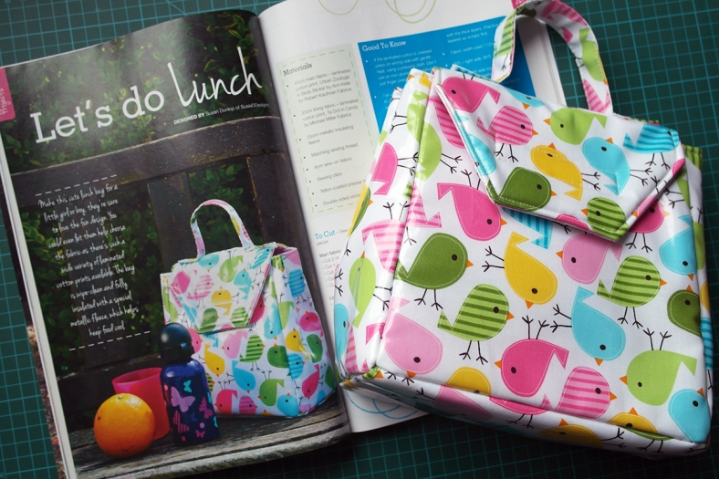 Sewing World magazine July 2014 Lunch Bag by Susan Dunlop