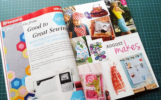 August Projects in Sewing World magazine