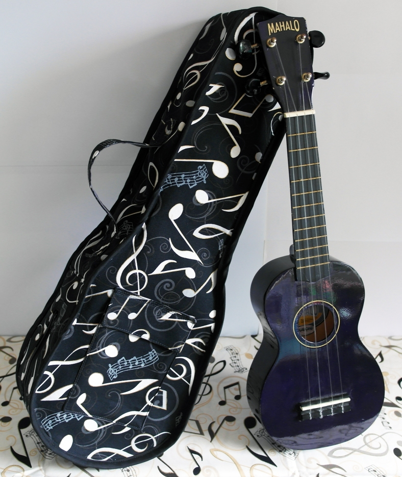 Ukulele Soft Cover Case Handmade by Susan Dunlop (1)