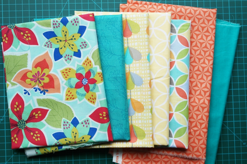 Fabrics for a new project for Quilt Now magazine